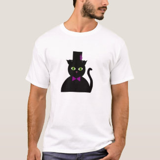 Black Cat Top Hat Purple Bow