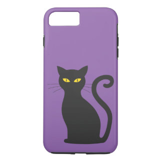 Black Cat Tough Case Purple iPhone 7 Plus Case