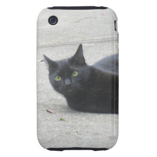 Black  Cat Tough iPhone 3 Cover