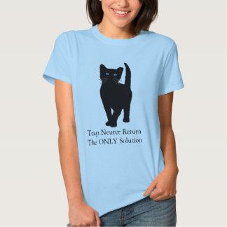 Black Cat, Trap Neuter Return the ONLY solution Shirt