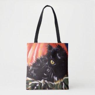 Black Cat Trick-Or-Treat Bag