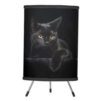 Black Cat Tripod Lamp