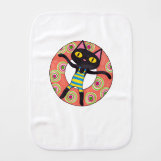 Black Cat Tubing Burp Cloth