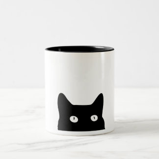 Black Cat Two-Tone Coffee Mug