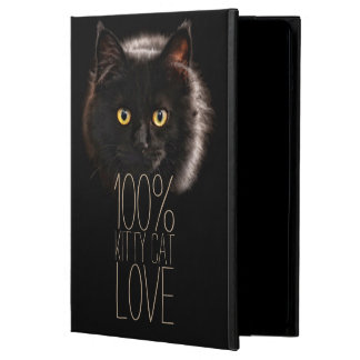 Black Cat Typography Cat Lover Name Cover For iPad Air