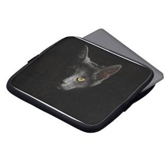 Black Cat Unleashed Laptop Case