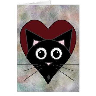 Black Cat Valentine Card