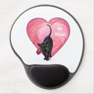 Black Cat Valentine's Day Gel Mouse Pad