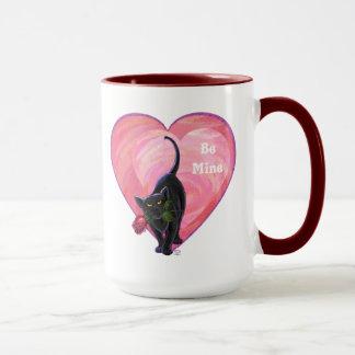 Black Cat Valentine's Day Mug