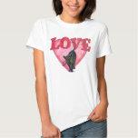 Black Cat Valentine's Day T-shirt