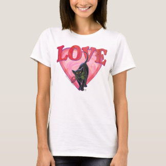 Black Cat Valentine's Day T-Shirt