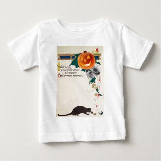 Black Cat (Vintage Halloween Card) Baby T-Shirt