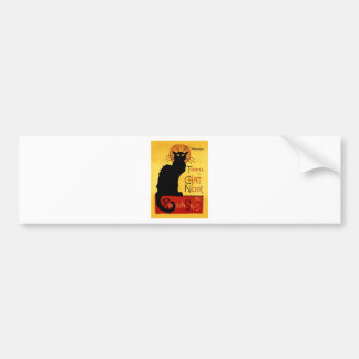 Black Cat Vintage Tournée du Chat Noir, Theophile Bumper Sticker