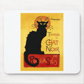 Black Cat Vintage Tournée du Chat Noir, Theophile Mouse Pad