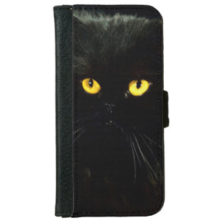 Black Cat Wallet Phone Case For iPhone 6/6s
