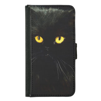Black Cat Wallet Phone Case For Samsung Galaxy S5