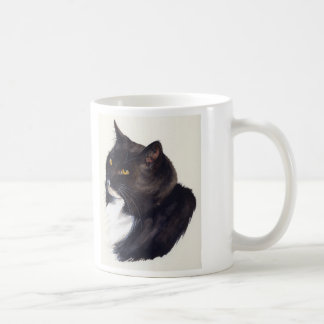 "Black cat watercolor with ""Cats were once gods"" Coffee Mug"