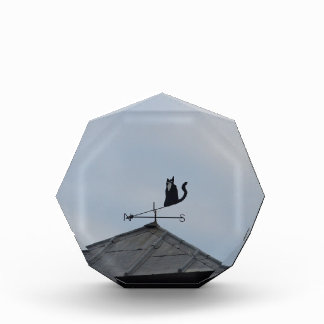 Black Cat  Weather Vane Acrylic Award