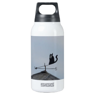 Black Cat  Weather Vane Thermos Water Bottle