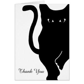 Black Cat Wedding Thank You Card