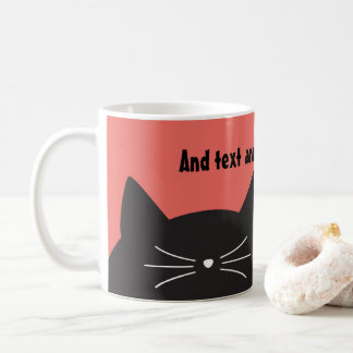 Black Cat, Whiskers and Tail Coffee Mug