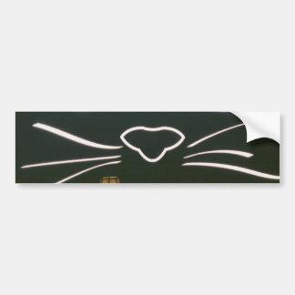 Black Cat Whiskers Car Bumper Sticker