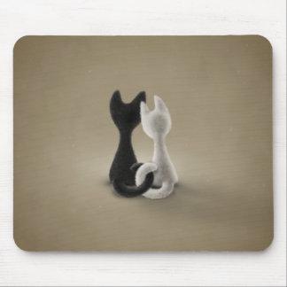 Black Cat White Cat (Color 3) Mouse Pad