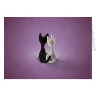 Black Cat White Cat (Color 4) Card