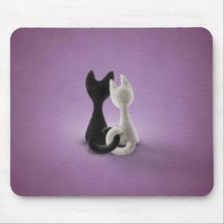 Black Cat White Cat (Color 4) Mousepad