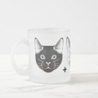 """Black Cat   White Cat = Grey Cat"" DNA Cat Mug"