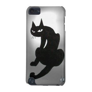 BLACK CAT white iPod Touch (5th Generation) Cover