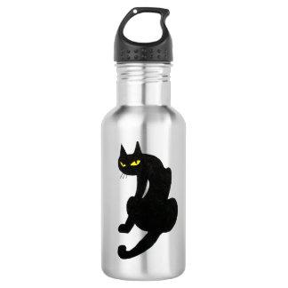 BLACK CAT  white Stainless Steel Water Bottle