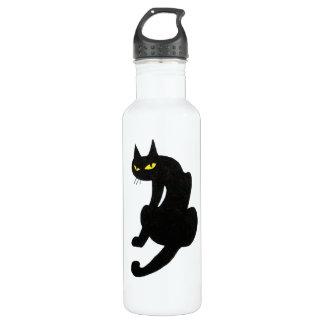 BLACK CAT  white Water Bottle