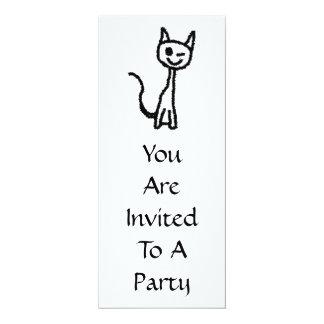 Black Cat, Winking. Card