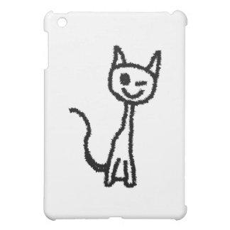 Black Cat, Winking. iPad Mini Covers