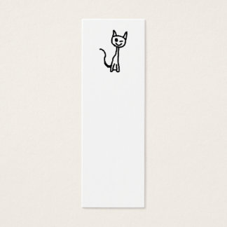 Black Cat, Winking. Mini Business Card