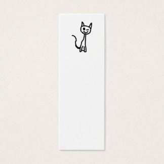 Black Cat, Winking. Mini Business Card