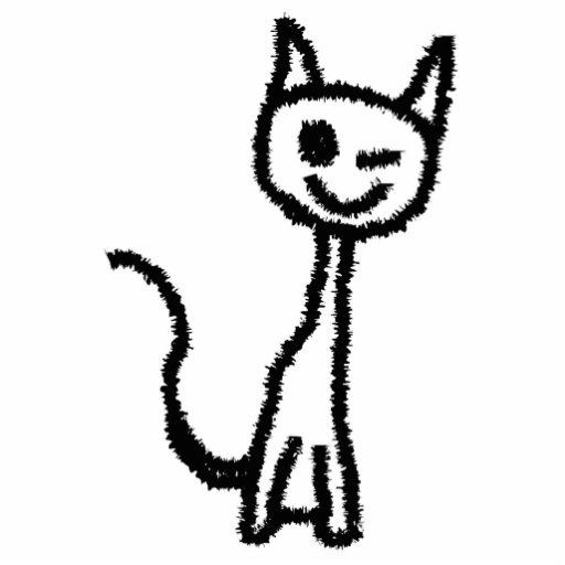 Black Cat, Winking. Photo Sculpture Magnet