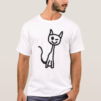Black Cat, Winking. T-Shirt