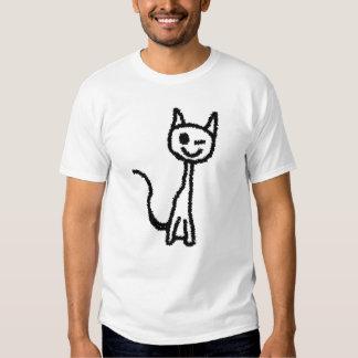 Black Cat, Winking. Tee Shirt