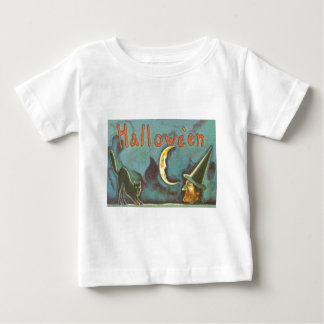 Black Cat Witch Crescent Moon Baby T-Shirt