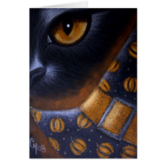 BLACK CAT - WITCH HAT Card