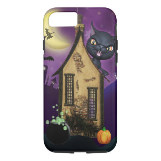 Black Cat Witch House iPhone 7 Case