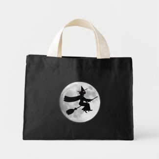 Black Cat Witch Moon Bag