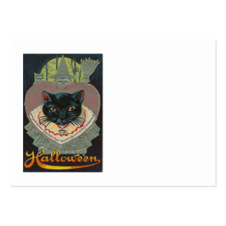 Black Cat Witch Witching Hour Full Moon Business Card Templates