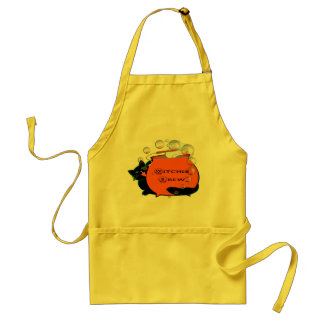 Black Cat Witches Brew Adult Apron