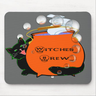 Black Cat Witches Brew Mouse Pad