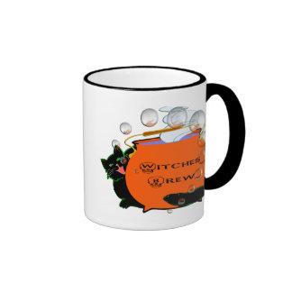 Black Cat Witches Brew Ringer Mug