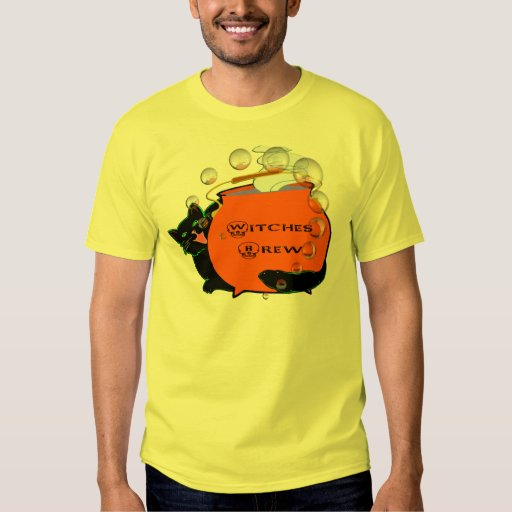 Black Cat Witches Brew Tee Shirt
