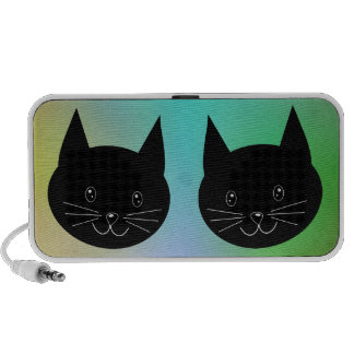 Black Cat, with a background of rainbow colors. iPhone Speaker